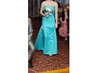 Used teal bridesmaid dress size 8/10