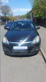 Black Vauxhall Astra, 1.4Ltr, 2006. 5 doors