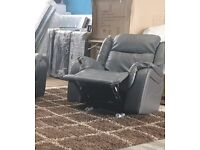 ⚠️⚠️🚛 Free and Quick Delivery ⚠️ Roma Recliner Chairs in Black and Grey