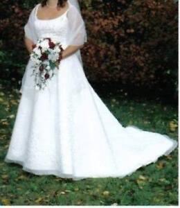 Wedding Gown, Matching Shawl, Crinoline
