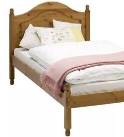 Single 3ft honey colour pine bed frame only