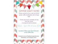 SUMMER CRAFT AND VINTAGE FAYRE - Stalls Available