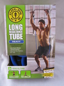 GOLDS GYM LONG RESISTANCE TUBE HEAVY