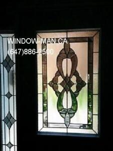 Entry Stained Door Entrance Glass  Supply Install