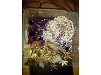 For sale bundle of costume jewellery