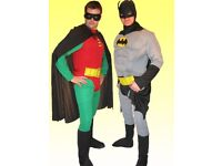 Batman and robin mens costumes for sale