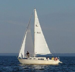 Classic 1970's sailboat on North Channel