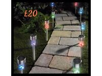 10 solar powered colour changing lights
