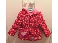 Peppa Pig warm cozy jacket coat age 2 - 3