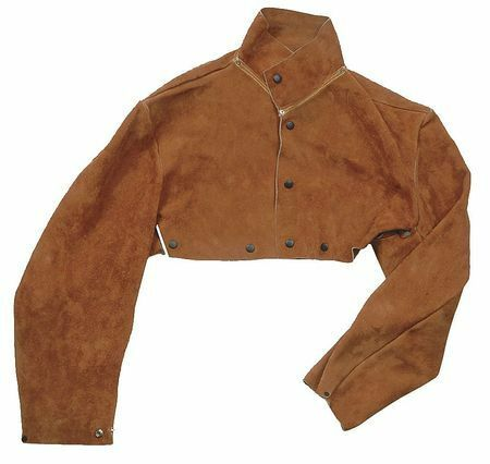 CONDOR 5T177 Flame Resistant Cape Sleeve, Brown, Leather, XL