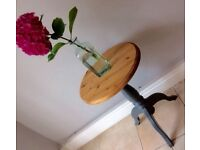 Small Wooden Pedestal Table