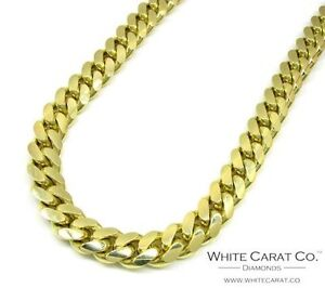 Solid gold Miami Cuban link chain