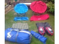 8 person tent plus chairs and sleeping bags