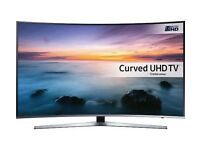 SAMSUNG 55 SMART 4K ULTRA HD HDR CURVED LED 1600HZ FREESAT & FREEVIEW HD