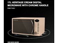 NEW 17 Liter Russell Hobbs Digital Microwave- Cream Colour