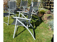 'Reduced' Set Of 4 Folding PATIO / GARDEN CHAIRS