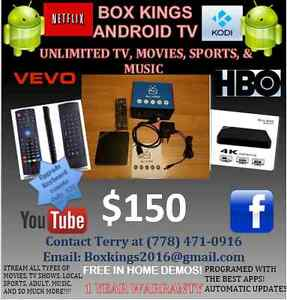 UNLIMITED TV & MOVIES FOREVER!! ANDROID BOXES!!