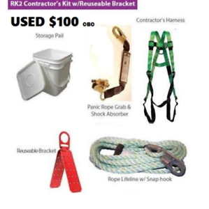 Roofers Kit Contractors Harness With Re Usable Bracket