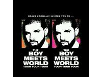 Drake 02 Arena tickets x2