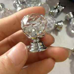 Crystal diamond Knobs qty 10