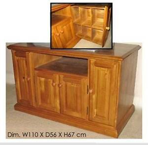 Entertainment unit (solid wood, teak-stained) *Excellent* Sydney City Inner Sydney Preview