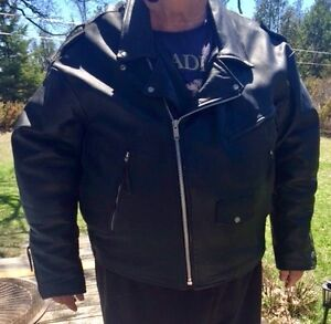 Leather motorcycle jacket 5XL