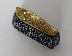5-034-Egyptian-Brass-and-Natural-Stone-Sculpture-King-Tut-039-s-Mummy-Hand-Carved-16