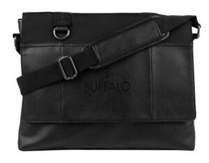Buffalo BUF078902CA Breaker 14in Laptop Messenger Bag - Black  (New Other)