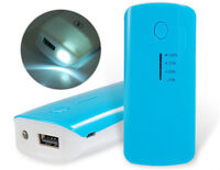 BATTERIE Mobile★USB Power Bank Batterie★8000 mAh★% Charge★Lampe★