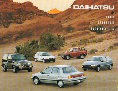 1990 Daihatsu (US) dealer showroom brochure - full line  VG+ condition  1711c