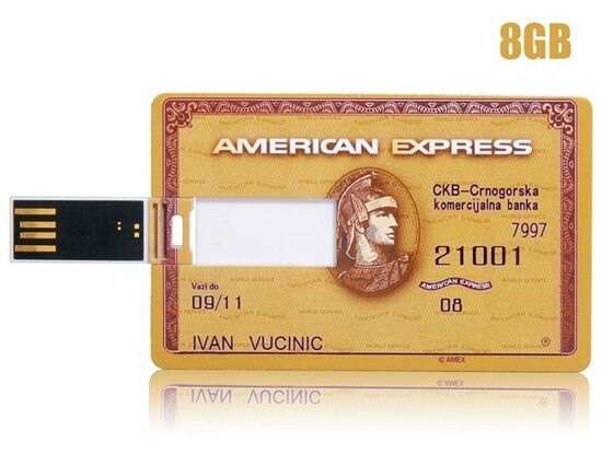 Mémoire flash USB 32 GB format carte de crédit design American Express