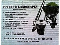 Double D Landscapes and garden services.