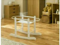 Kinder valley white Rocking moses basket stand. Brand new in sealed boxes. 3 left in stock.