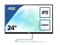 AOC 23.8 inch IPS Ultra-Thin PC/Computer Monitor I2481FXH