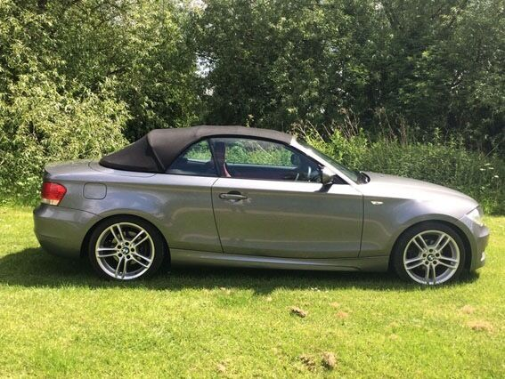 Bmw 1 Series Convertible 118i M Sport 2 0 Manual 26 500 Miles Space Grey Red Leather Interior