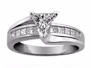 Engagement ring Trillion cut 1.1 carat diamond + 0.58 ct RRP 14K Bondi Beach Eastern Suburbs Preview
