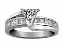 Engagement ring Trillion cut 1.1 carat diamond + 0.58 ct RRP 14K Bondi Beach Eastern Suburbs Preview