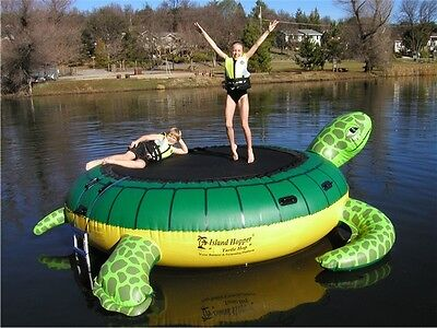 Island Hopper THOP Turtle Hop 9' Water Bouncer Trampoline