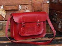 BNWT red leather Scaramanga satchel