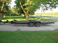 Open Car Trailer/Hauler with Electric Brakes and Electric Winch