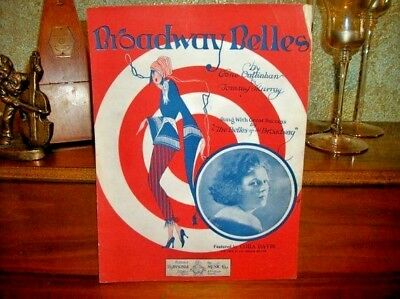 - Broadway Belles Antique 1923 Sheet Music Vocal Piano Cora Davis Stage Song