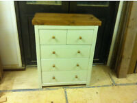 Reclaimed timber 2 over 3 chest of drawers & pair of bedside cabinets, rent to own £58p/m x 6months