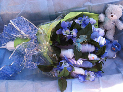 Baby Shower Centerpieces For A Boy (Bouquet Of Roses A Perfect Gift For A Baby Shower ( Boy) A Great Center Piece)