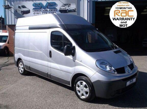 2010 10 RENAULT TRAFIC LWB HIGH ROOF 115BHP IN SILVER WITH AIR CON IDEAL CAMPER
