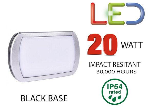 Brackenheath iSpot 20W LED BULKHEAD Outdoor IP54 Security Light 3000K C1