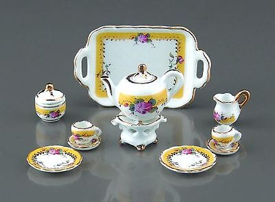 Reutter Miniaturen - Tee-Service Franz. Rose 11-tlg. (1.351/8) Kaffeeservice