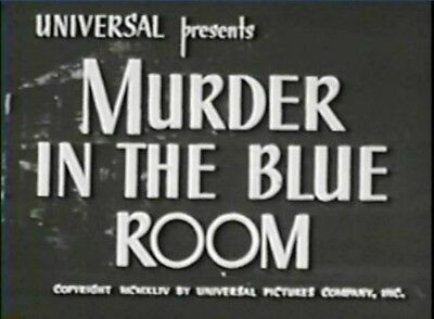 MURDER IN THE BLUE ROOM 1944 Anne Gwynne, Donald Cook