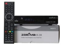 ZGEMMA H2H WITH ALL CHANNELS INCLUDING HD