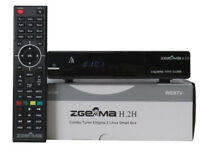 zgemma h2h or h5 twin tuner cable box openATV 250gb hard drive skins plugins picons 12 month gift x2