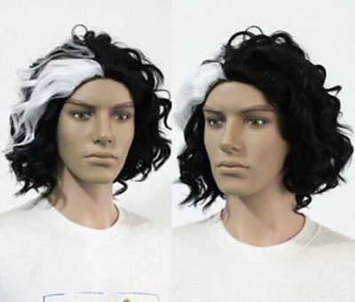 Sweeney Todd FULL COS Wig Hair New Sexy Short Black Mix White Cosplay Curly wigs - Sweeney Todd Wig